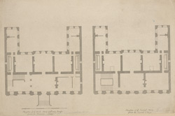 Plan of ye first story of Powis House